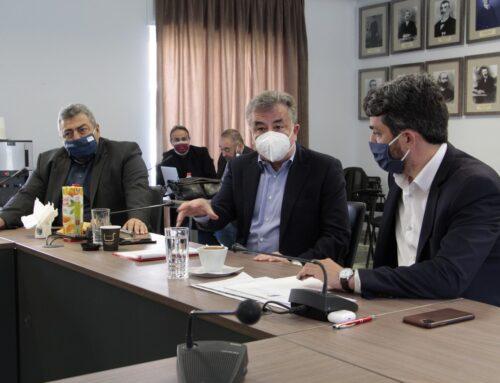 Σύσκεψη στο Δημαρχείο Χανίων για τη νέα προγραμματική περίοδο 2021-2027 των Σχεδίων Β.Α.Α.