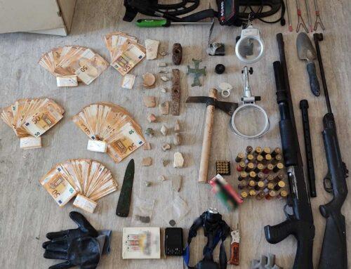 Συνελήφθη ημεδαπός, για παραβάσεις της Νομοθεσίας περί προστασίας αρχαιοτήτων και εν γένει της πολιτιστικής κληρονομιάς και τις Νομοθεσίας περί ναρκωτικών ουσιών και όπλων, στο Ηράκλειο