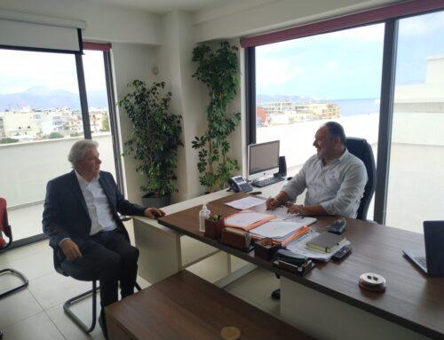 Συνάντηση Γ. Κουράκη με Ά. Παπαδογιάννη για έργα και υποδομές στην Κρήτη